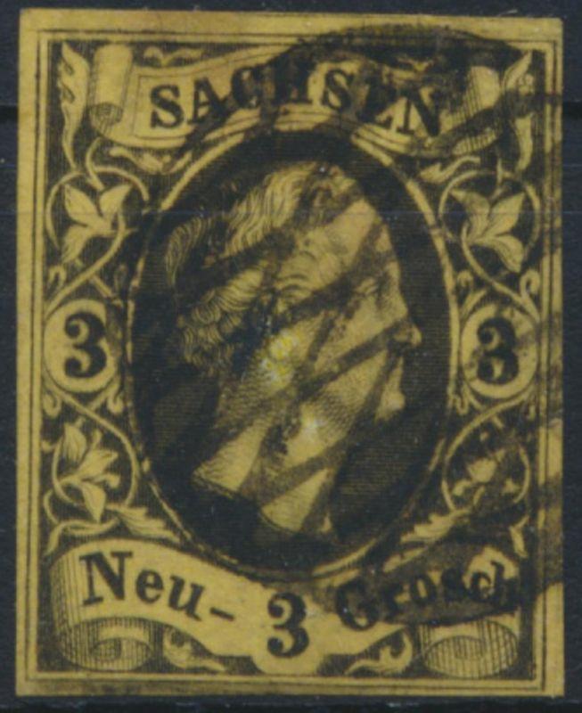 Sachsen 6 gest. - 3 Neugr.  König Friedrich August II.