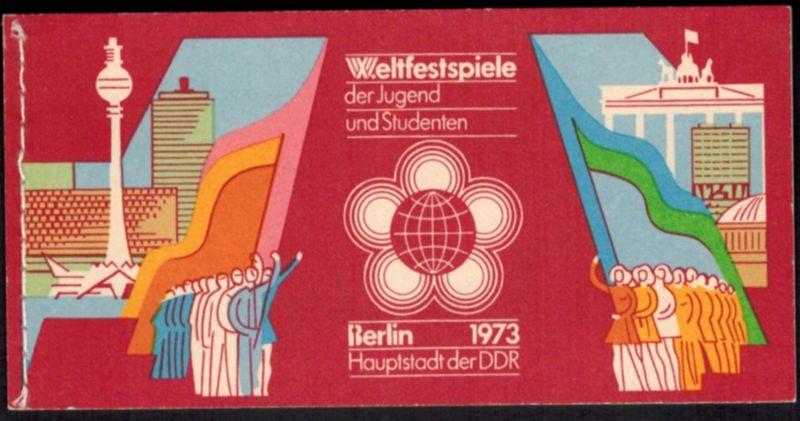DDR Markenheftchen 7 I Weltspiele der Jugend 1973 tadellos postfrisch