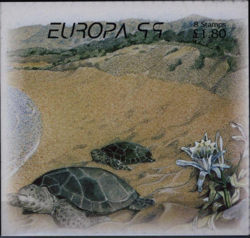 Zypern MH 1 Europa CEPT Markenheftchen 1999 Natur- & Nationalparks postfrisch