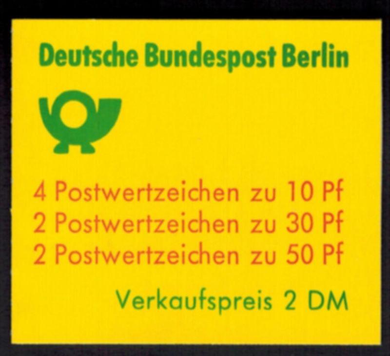 Berlin Markenheftchen 10 a II oZ Burgen und Schlösser1977 tadellos postfrisch