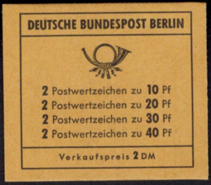 Berlin Markenheftchen 8 a Unfallverhütung 1972 tadellos postfrisch