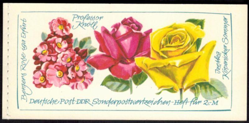 DDR Markenheftchen 6 I 1 Rosenausstellung 1972 tadellos postfrisch