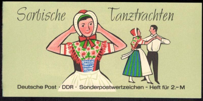 DDR Markenheftchen 5 I 1 a Sorbische Tanztrachten 1972 tadellos postfrisch