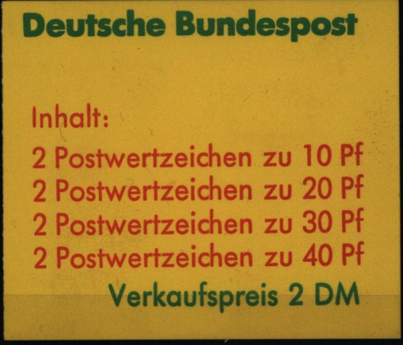 Bund Markenheftchen MH 20a I a oZ Unfallverhütung 1974 postfrisch MNH