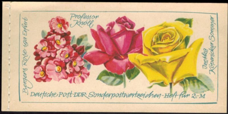 DDR Markenheftchen 6 I 2 Rosenausstellung 1972 tadellos postfrisch