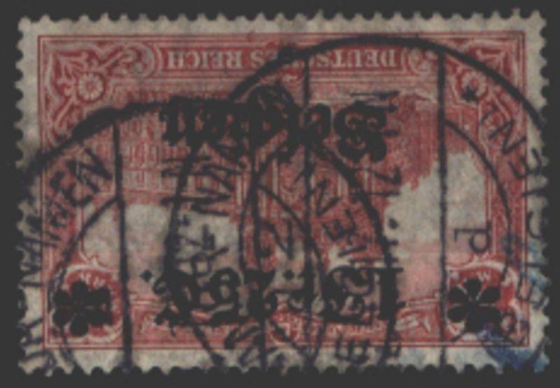 Deutsche Besetzung Belgien 8 Reichspostamt 1 F 25 C auf 1 M gestempelt NAMUR
