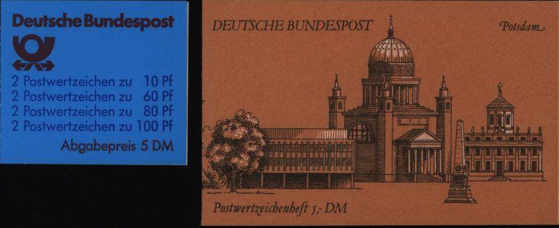 Bund Markenheftchen MH 26 a und b Sehenswürdigkeiten 1989 1991 postfrisch MNH