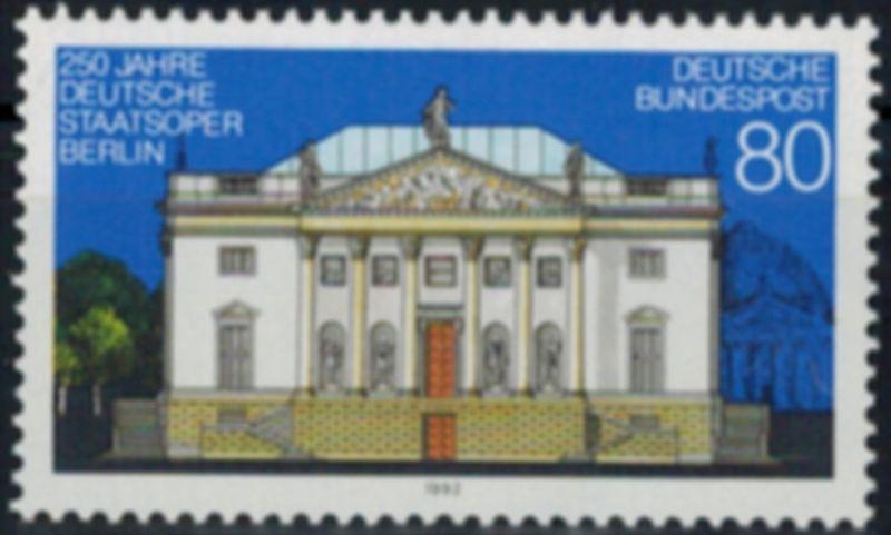 Bundesrepublik 1625 Plattenfehler I Deutsche Staatsoper 1992 Abart postfrisch