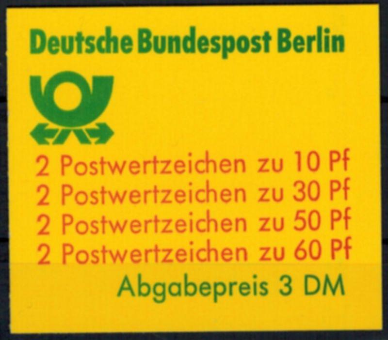 Berlin Markenheftchen 12 b oZ Burgen und Schlösser 1980 tadellos postfrisch