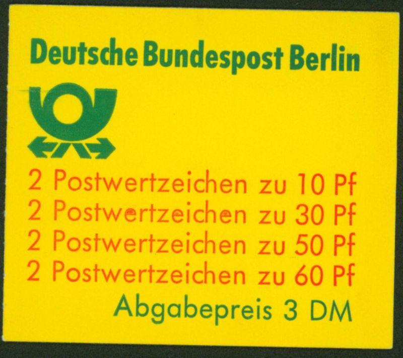 Berlin Markenheftchen 12 a oZ Burgen und Schlösser 1980 tadellos postfrisch