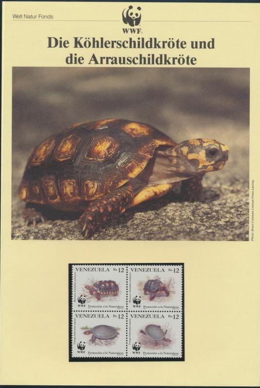 WWF Venezuela 2729-2732 Köhlerschildkröte kpl. Kapitel bestehend