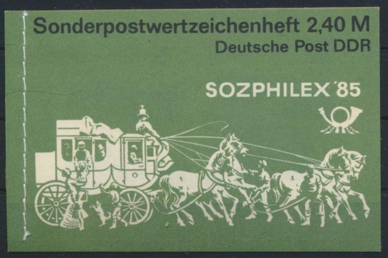 DDR Markenheftchen MH 8 Sozphilex 1985 Luxus postfrisch