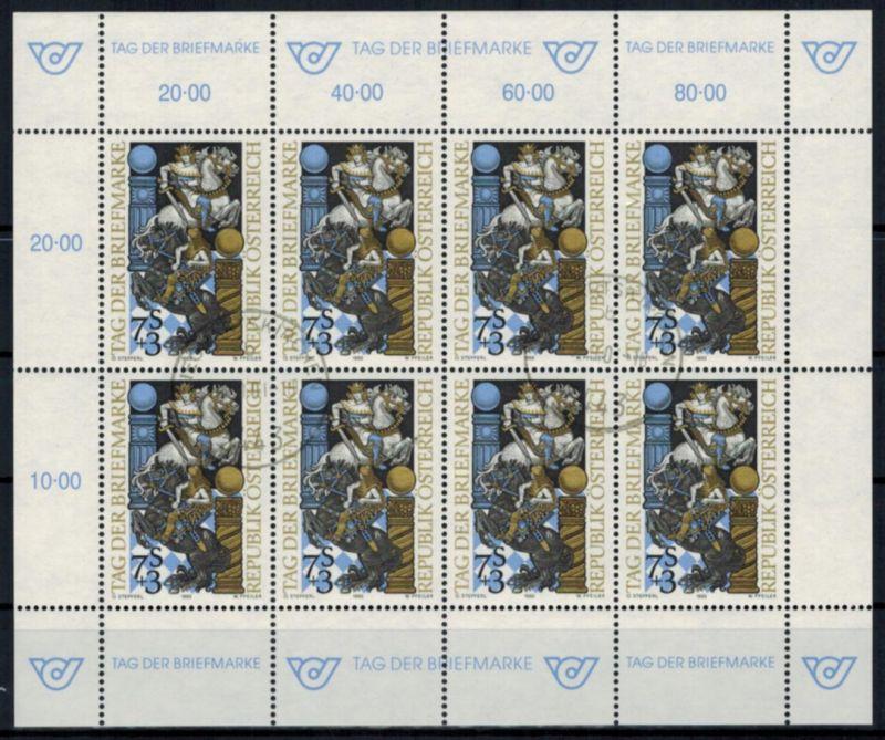Österreich Kleinbogen Tag der Briefmarke 2097 Philatelie gestempelt 1993