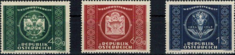 Österreich UPU Weltpostverein 943-945 komplett postfrisch 1949