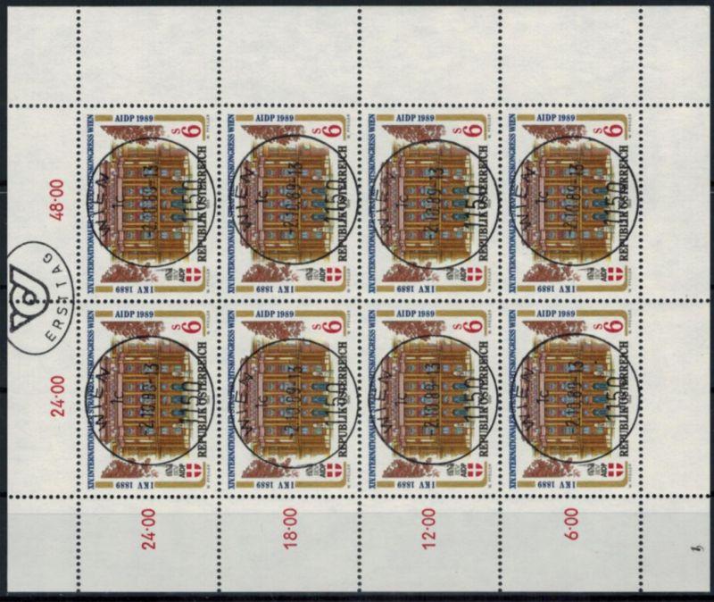 Österreich Kleinbogen Strafrechtskongress 1971 Ersttagsstempel 1989