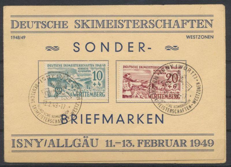 Besetzung Franz. Zone Württemberg 38 x VIII 39 yI SST Isny Skimeisterschaften