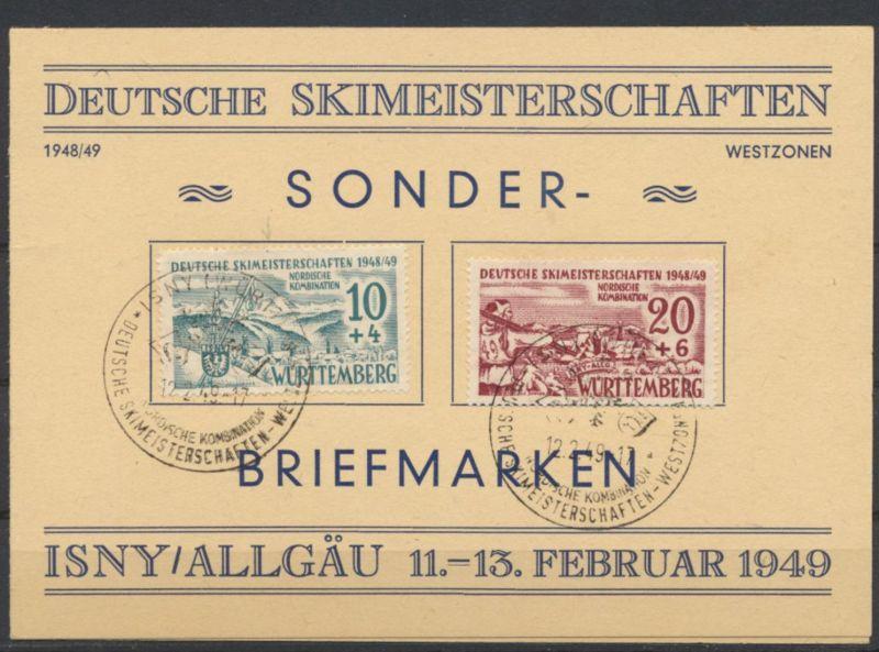 Besetzung Franz. Zone Württemberg 38yIII 39yI Isny Skimeisterschaften