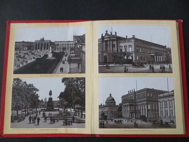 Leporello Album von Berlin 48 Bilder Verlag L. Glaser Leipzig Jugendstil selten