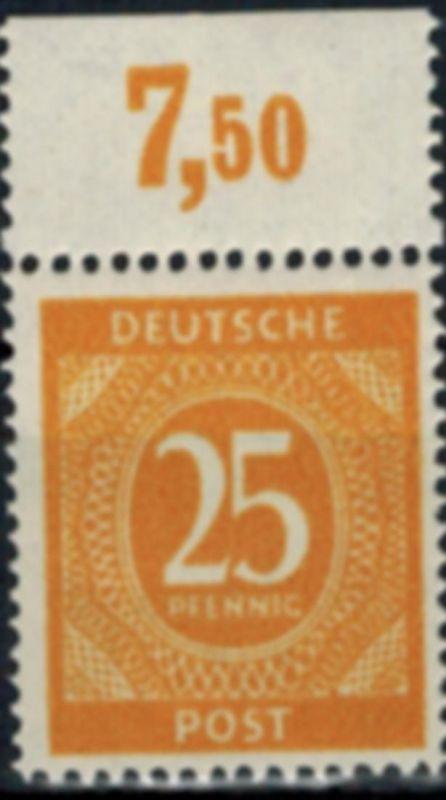 Gemeinschaftsausgaben 927 POR dgz Oberrand 1946 postfrisch Alliierte Besetzung