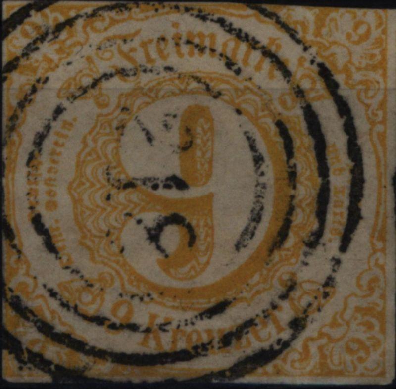 Thurn & Taxis 23 II sauber gestempelt 1860 Nummernstempel 218 Homburg