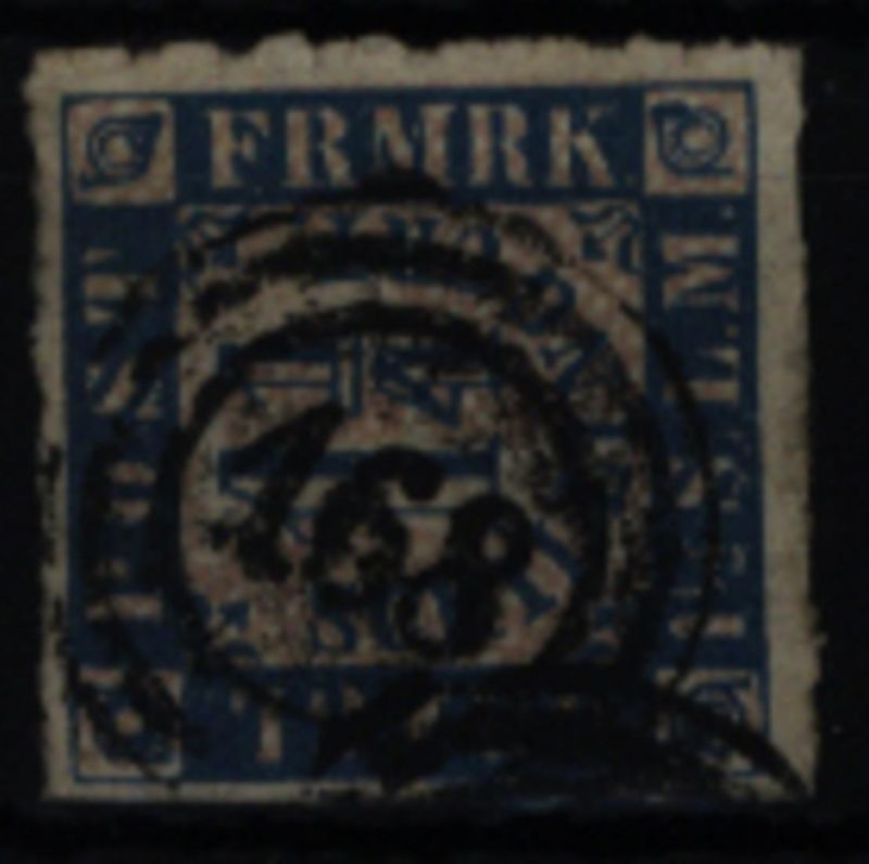 Altdeutschland Schleswig Holstein 7 mit Dreiring-Nrn.-St. 168 Bahnpost Holstein