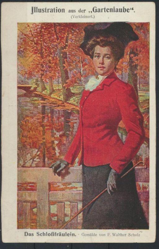 Ansichtskarte Jugendstil Art Nouveau Gartenlaube Künstler Bahnpost Vohwinkel