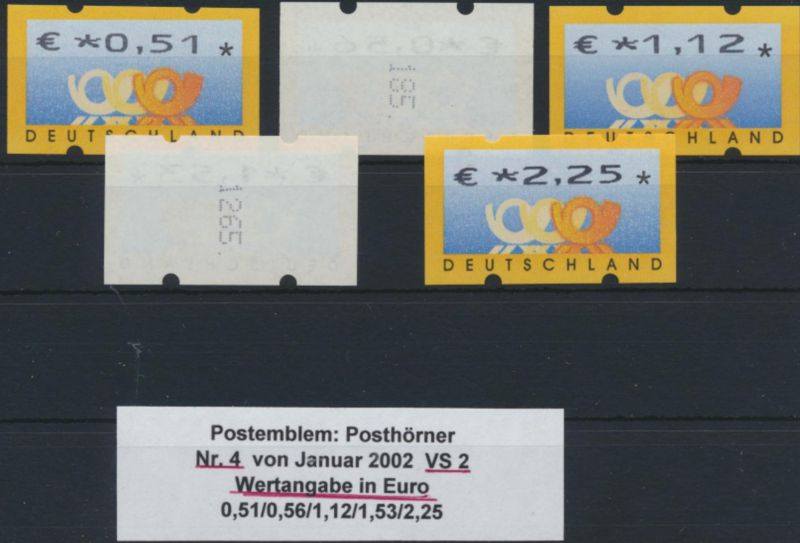 Bund ATM - Nr. 4 VS 2 mit Zählnummer**  Postemblem