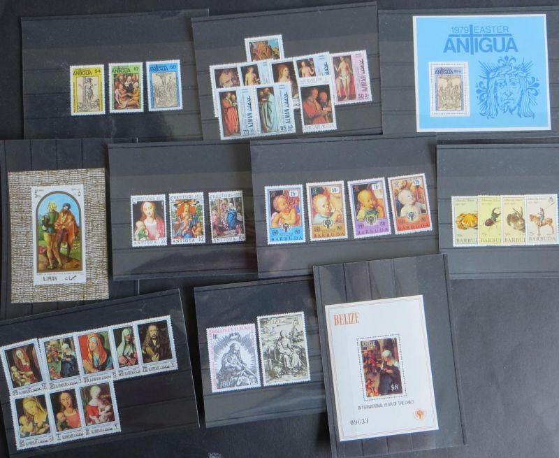 Briefmarken Thema Dürer Maler Künstler Ajman, Antigua, Barbuda, Belize
