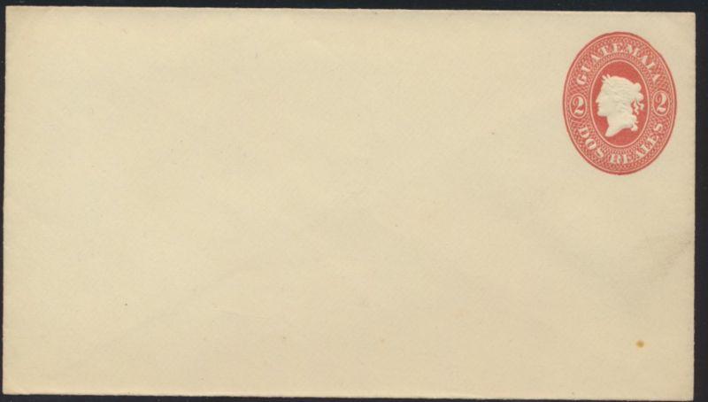 Guatemala Ganzsache 2 d postal stationary