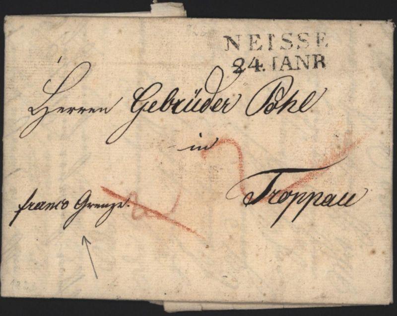 Preussen Vorphila Brief L2 Neisse Nysa Schlesien 1828 n Troppau Opava Tschechien