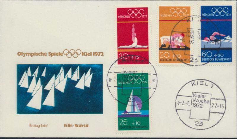 Bund Brief MIF 719-2 SST Kieler Woche Olympische Spiele Olympia Schiffe Segeln