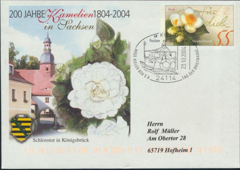 Bund Ganzsache Kamelien SSTPostlore Hallig Land Kiel Hofheim Tag der Briefmarke