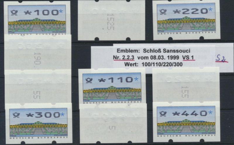 Bund ATM - Nr. 2.2.3 VS 1/2 mit Zählnummer**  Postemblem