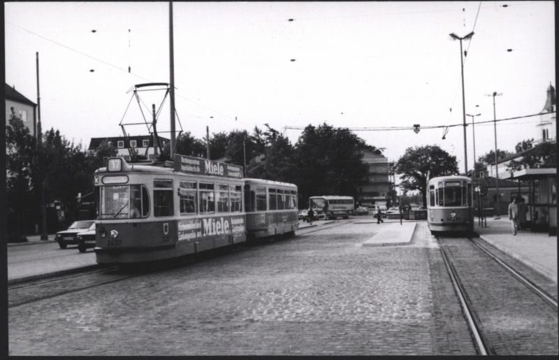 Altes Foto Straßenbahn München mit Reklame Miele