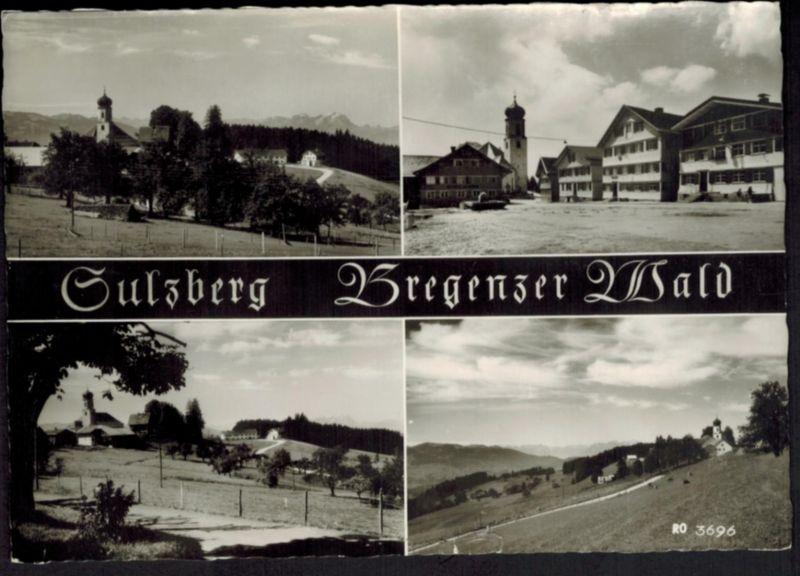 Ansichtskarte Österreich Sulzberg Bregenzer Wald  1963
