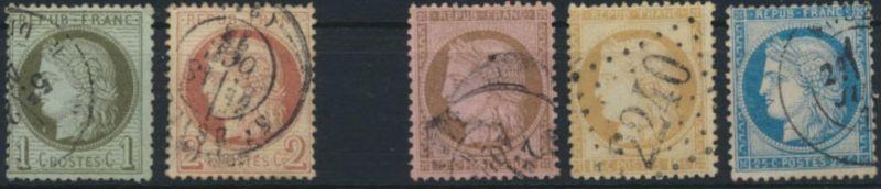 Frankreich ex 45-51 Ceres 1871 gestempelt