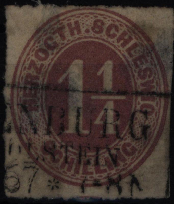 Altdeutschland Schleswig-Holstein 14 mit Stempel R 3 Oldenburg in Holstein