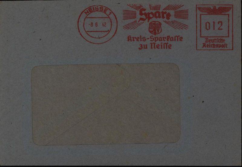 Deutsches Reich Brief mit AFS Neisse 8.6.1942