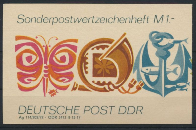 DDR Sondermarkenheftchen SMHD 3 a Luxus postfrisch