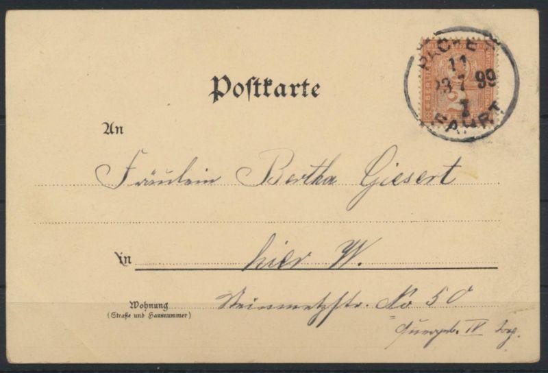Stadtpost Privatpost Berlin Paketfahrt 66 auf Ansichtskarte Blumen Rosen 1899