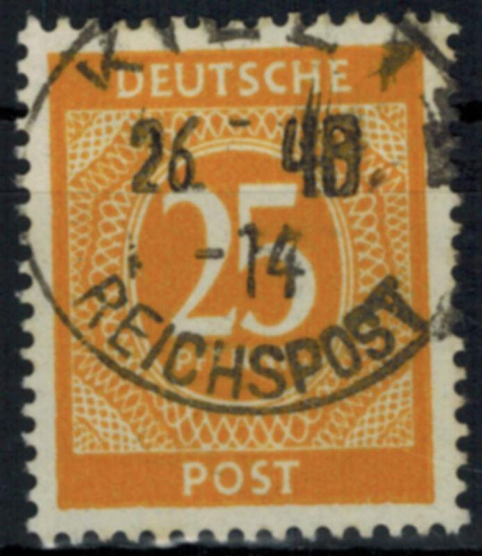 Gemeinschaft 25 Pfg. mit altem Stempel Kiel - Reichspost 26 _ 48 - ohne Monat