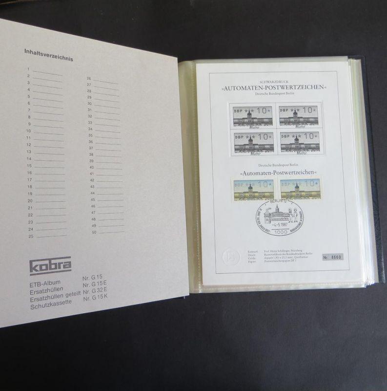 Berlin Schwarzdruck Automatenmarken 4.5.1987 10-300 Pf