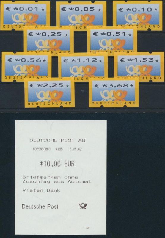 Bund ATM 4 - Versandstellensatz VS 1 Postemblem postfrisch