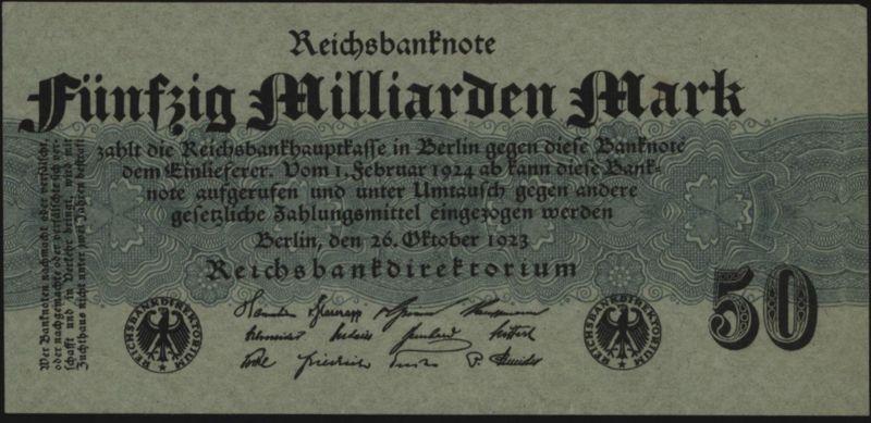 Deutsches Reich Geldschein Reichsbanknote Infla 122 a 26.10.1923 - I.
