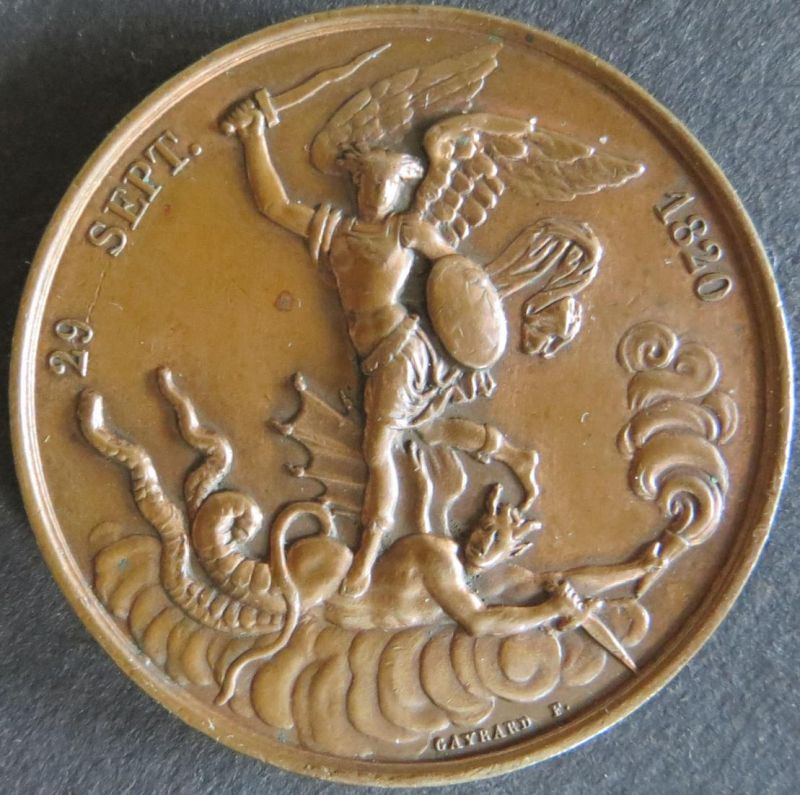 Medaille Frankreich 1820 Geburt von Henry V. 29. Sept. 1820 vorzgl.