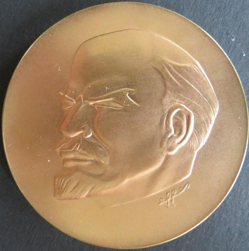 Medaille 1970 W.I. Lenin 100. Geburtstag, 90 g Bronze 60 mm in Schatulle