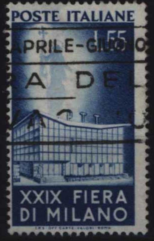 Italien 831 Höchstwert 55 Lire 29. Mailänder Messe 1951 sauber gestempelt