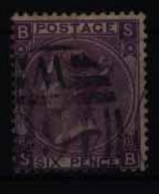Großbritannien 30 Platte 8 Königin Victoria 6 Pence 1867 sauber gestempelt
