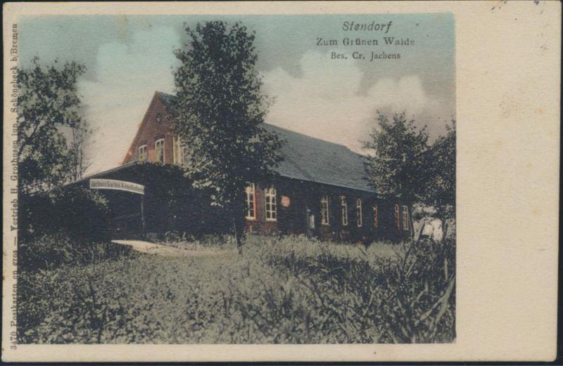 Ansichtskarte Stendorf Zum Grünen Walde Gasthaus nach Eisenach