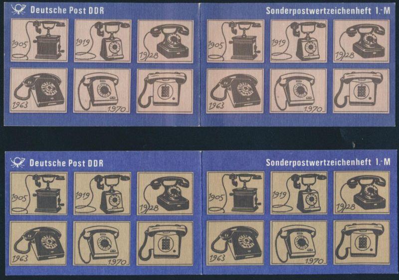 5 DDR Sondermarkenheftchen SMHD 12a-d postfrisch 1983-1986